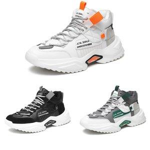 Wholesale Non-Brand platformmen Plus cashmere shoes black white orange green gray fashion outdoor students sports sneakers 39-44