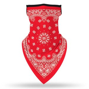 Hanging Ear Neck Gaiter Triangular Magic Scarf Dustproof Washable Face Mask Bandanna Various Patterns Men Women 5 2yj D2