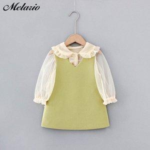 Melario Mädchen 2020 Herbst-Kind-Kleidung Outfits Baby Shirts Kleid Kinder Langarm Prinzessin Vestidos AUWJ #