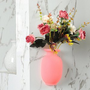 3D الثلاجة ملصق مصنع زهرية السيليكا جل ملصق الثلاجة للمنزل ديكور الحائط DW101 lVB7 #