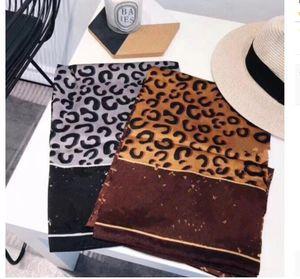 2021 Designer silk scarf for women Hot Ladies Leopard Printed shawls scarfs Pashmina fashion long ring 180x90cm Christmas gift Dropship