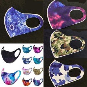 Sternenhimmel-Tarnung gedruckt Mascarilla Multi Color faltbare Gesichtsmasken Mode Staubdichtes waschbare atmungsaktiv Mascherine 2 2zk G2