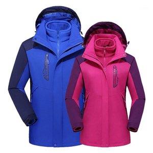 Winter 3in1 Флис съемный куртка для мужчин Женщины для мужчин Кемпинг Рыбалка Пешие прогулки лазания лыжные куртки Водонепроницаемые дышащие негабаритные пальто1