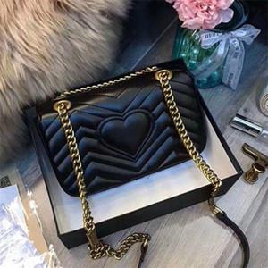 Xx 2020New classique mode amour coeur V vague motif motif sac de sac à bandoulière chaîne sac à main sac à main de luxe bandoulière sac à dos femme sacs fourre-tout
