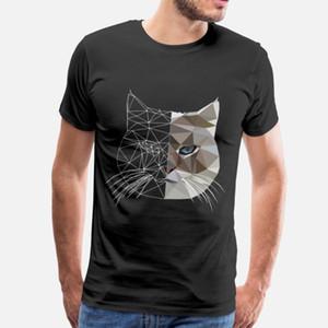 Cat Polygon zwei Gesichter T Shirt Spaß AltweiĆ Anzug Hoodie