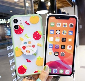 Cute Fruit Stand Holder Lanyard Phone Case For Iphone Se 11pro Max 7 8plus Xr Xs Max Strawberry Flower Soft qylmXH dh_niceshop
