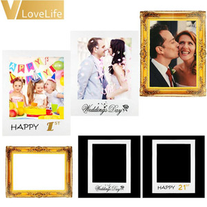 1pcs Paper Picture Frame DIY For Wedding Decoration 1st 16 18 21 30 40 50 60th Happy Birthday Party Photo Frame Booth Props