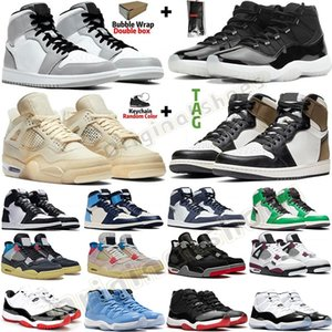 1s Dark Mocha Zoom Racer Blau Travis Scott UNC Bio Hack Jumpman 1 Basketball-Schuhe 4s What The Cactus Jack White Cement 11 Pantone Concord 45 Trainer Männer Turnschuhe Bred