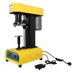 Tin Can Sealing Machine Automatic Desktop Tin Can Sealer Presser Diameter Ajustable Tin plastic paper can lid seamer