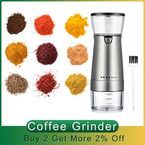 USB Caffè Grinder Recaricabile Macchina per caffè elettrico Caffè elettrico Grinder Nuts Fagioli Spezie Grani Pepper Macinarie Dispositivo natale