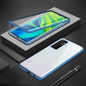 Magnetischer Fall für Xiaomi Mi Anmerkung 10 Lite Hülle Dual Side Tempered Gla Hard Cover für MI Note 10 Lite Funda H Jllolh