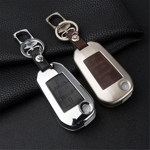Metal 3 Button Remote Key Case Cover Ring Holder Bag Box Keychain Shell Fit For Peugeot 508 308 301 2008 3008 2011-2018 Accessories