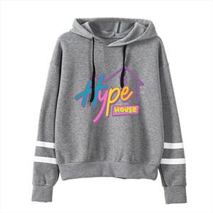 Addison Rae new print hoodies women men print Charli DAmelio hoodie Hand sleeve The Hype House Sweatshirt Unisex Tracksuit