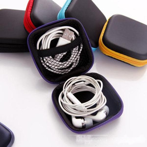 5 color Cell phone data cable charger Fingertip gyro box Headphone storage bag eva headphone bag free shipping