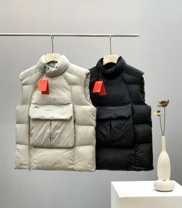Europe et Amérique du concepteur de verser vestes mode casual hommes gilet rembourrage en coton vers le bas pelucheux de haute qualité Oblique fermeture éclair manteau coupe-vent