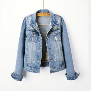 2021 Plus Size 5XL Denim Jacket Women Boyfriend Jean Coat Streetwear Harajuku Vintage Autumn Basic Outerwear
