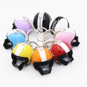 Cute Motorcycle Helmet Key Chain Hanging Key Chain Ring Keychain Keyring Gift Toy for Men or Women 3D Miniature Plastic