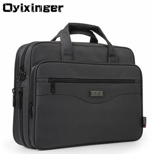 "OYIXINGER Mann-Aktenkoffer-Laptop-Taschen Gute Nylongewebe Multifunktions-Waterproof 15.6"" Taschen Business Schulter Männer Büro Taschen LJ201012"