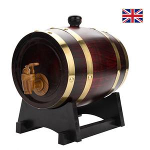 Lager in UK Vintage Wood Oak Holzweinfass für Bier Whisky Rum Hafen 1.5L Dropshipping