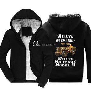 New Fashion Hoodie engraçado Willy Usa Wwii camisola Men Thicken Keep Warm Jacket com capuz Hip Hop Tops Harajuku Streetwear X1022
