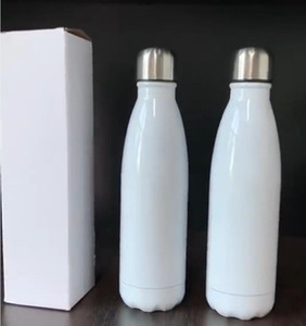 17oz sublimation cola bottle 17oz Stainless Steel Cola bottle Double wall vacuum insulated drinking Cup 500m water bottles Sea Shipping W43