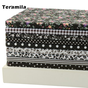 """Classic Black"" Fat Quarter Bundle Cotton Fabric Tilda Quilting Scrapbooking Patchwork 9 Designs Assorted 50CMx50CM Piece"