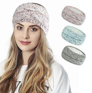 2021 Knitted Knot Headband Head Wrap Ear Hair Band Winter Crochet Turban Wide Ear Warmer Hairband Women Hair Accessories