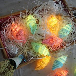 Bunte 10 Licht Lampe String Streifen Cloud Conch Muster LED String Lights Geburtstag Home Living Party Decor Neue 7 5gc N2