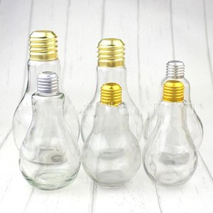 Bebida garrafa de plástico transparente Tumbler Beber Bulb Cup Luz Figura caneca Fruit Juice Milk Tea Shop Achromatic Cor Claro C2 2 6CY