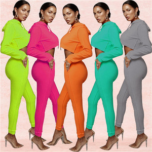 Hot selling European and American women's spring and autumn fashion casual sports sweater women's two-piece suit Gxy005