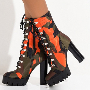 Doratasia 2020 Plus Size 43 Ankle Boots INS HOT Sexy Camouflage Super High Heels Design Party Boots Womens Shoes Woman 23sK#