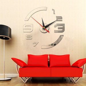 Modern DIY Interior Roman Wall Clock Wall Clock 3D Sticker Home Mirror Effect 5 Color High Quality 3D Wall Stickers