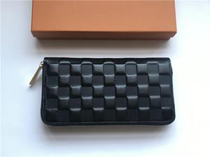 Kostenloser Versand weltweit Größe 19,5 cm Klassische Mode großzügige Leder Reißverschluss Wallet Kartenhalter Key Case Beste Qualität Münze Geldbörse Kupplung