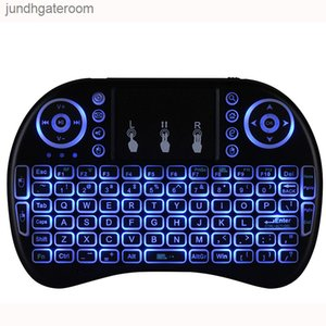 Kablosuz Klavyeler RII Oyun I8 Beyaz 2.4 GHz Arka Işık Çok Renkli Aydınlatmalı Fare Uzaktan Kumanda TV Android Kutuları MX Için