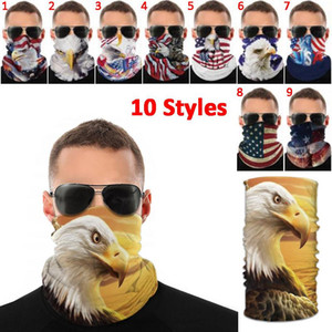 Cap USA Flag National Mask Print Magic Outdoor Multifunctional Scarf Bird Anti-mosquito American Wristband Sports Dustproof Face Cap US Rewd