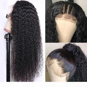 Kinky Curly Remy Human Hair 13 * 4 13 * 6 레이스 가발 뜨거운 판매 전체 머리 세트 100 % 버진 브라질 머리 새 디자이너 패션 조정 가능한 모자