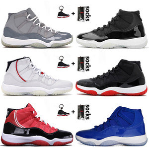 nike air jordan retro 11 bred concord low Di vendita caldo 2020 nuovi pattini di pallacanestro degli uomini di qualità in rasoGiordaniaRetro Cool Grey Jumpman da ginnastica