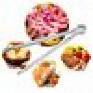 Pince à glace en acier inoxydable pour bandes de pain de bonbons BBQ Buffet de mariage doux I11P #