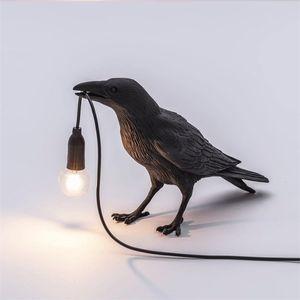 New Auspicious Bird Table Lamp Bedroom Bedside Lamp Animal Shape Bird Table Lamps For Living Room Nordic Study Shop Art led Night Desk Light
