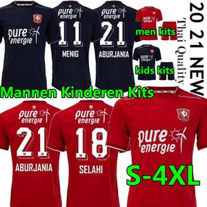 Мужчины + детские наборы FC Twente Soccer Jersey 2020 2021 Home Red Away Danilo Menig Cerny Selahi Julio Pleugezuelo взрослых футбол футбол Униформа 4XL