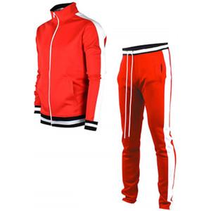 Stripe Tracksuits running suits Men's Sportswear Set 2020 Autumn Winter 2 Pieces Sweatshirt+Pants Suit Brand Men Jogging clothes sports suit