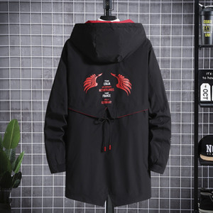 Autumn 2020 new, large-size medium-length Autumn Jacket, loose-fitting with a hat pocket casual jacket fashion brand slimming