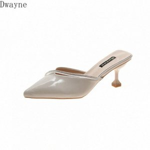 Fashion Slippers Women 2020 Spring And Summer New Ins Wild Pointed High Heels French Sexy Baotou Shallow Mouth Sandals yXbs#