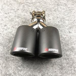 1 stück y modell matt dual out akrapovic auspuffanlage passen für alle autos kohlefaser schalldämpfer austret ak edelstahl Schalldämpfer