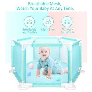 Bebekler Bebek Yenidoğan Bebek Güvenli Tarama wmtTIB xhlove için Çocuk Altıgen Çocuk Parkı Playard Oyuncak Yıkanabilir Okyanus Ball Pool Seti Çadır