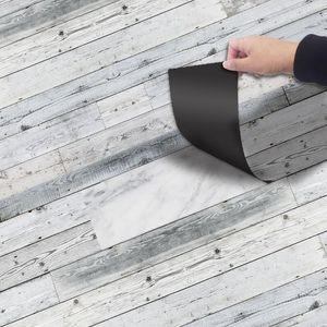 Adhesive Floor PVC Floor Sticker Retro Self Roll Brick 20x300CM Line Pattern Hotel Bedroom Ground PVC Removable Wall Stickers