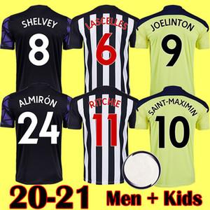 20 21 NUEVO NUEVO NUFC Home Kit de fútbol Jerseys SHELVEY 2020 2021 Joelinton Football Shirt Almiron Ritchie Gayle Hombre Kits Equipamiento para niños