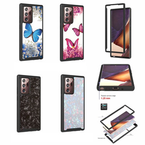 Shockproof 360 Full Body Armor Case For Samsung Galaxy S21 Plus Note 20 A12 A02S A42 Butterfly Flower Shell Hybrid Layer Hard 2in1 Cover