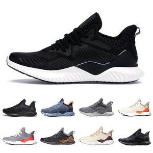 Çekirdek Siyah Alphabounce Ötesi Erkek Ayakkabı Ham Gri temalı Turuncu Karbon Keten Ekru Ton Erkekler Kadınlar Spor Popüler Tasarımcı Sneakers Koşu