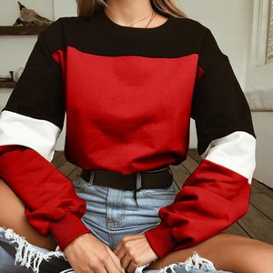 Autumn Hoodies Fashion Patchwork Color Sweatshirts Womens 2020 Long Sleeve Sweatshirt Hoodies Tops Blouse Crop Pullover 15